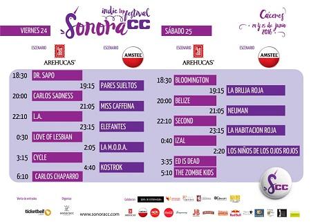 Sonoracc-horarios